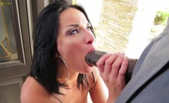 Anissa Kate moaning at the open door