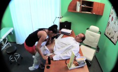 FakeHospital Sexy sales lady makes doctor cum twice