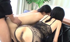 Raunchy blowbang from japanese playgirl with butt-plug