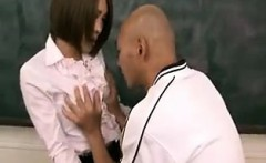 Sexy Asian teacher is felt up and fingered by one of her st