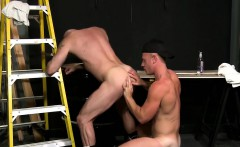 Saxon pumps his ass with his hard cock behind the dumpster