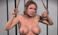 Flogged sub whore restrained and punished
