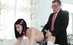 Ideal schoolgirl was seduced and fucked by her aged instruct