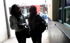 Two Black Babes Strip Their Clothes Off And The Fun Starts!
