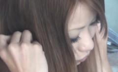 Tiny asian teen rubbing