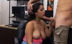Brunette With Huge Boobs Nina Sucking In Pawn Shop