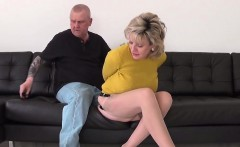Adulterous english mature lady sonia flashes her big knocker