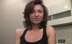 Horny housewife prepares for the webcam adventure