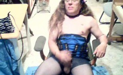 Corseted crossdresser solo