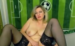 Blonde Russian masturbating on webcam