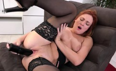 eva berger stretches her pussy with a speculum and big dildo