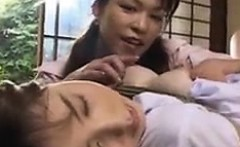 Buxom Japanese housewife gets her body tied up and her puss