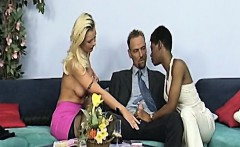 Lucky guys enjoying hot anal foursome with African sluts