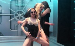 Wetlook girls dancing in the shower room 3