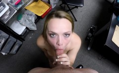 hottie with natural boobs pounded on the table by her boss