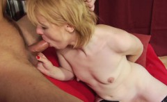dirty blonde milf blows and rims him
