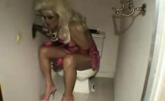 Gloryhole Sex In A Bathroom