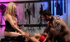 raunchy threesome session in the dungeon