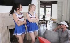 3 cheerleaders fucking the coach