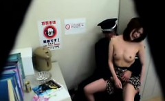 Sultry Asian girl loses her clothes and a horny cop devours