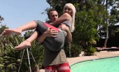 hot slut gina fucked by the pool