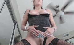 Kinky British Mature Fucks Fake Man Toy