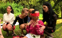 Lesbian piss orgy in the park part 1