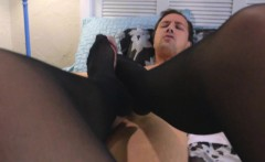 Mom Catches Daughter Giving Footjob
