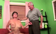 Granny fucks while husband watches