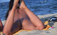 amateur voyeur nudist couple   back shaved pussy beach video