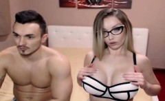 Beautiful Nerd With Big Melons Gets Facial