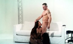 gorgeous ebony teen fucked after flogging