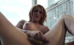 Curvy Shemale Masturbating In Solo Video