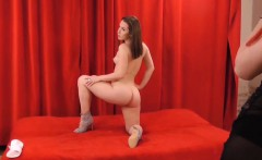 Teen posing with dildo