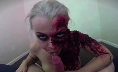 Horny zombie gets her fill of cock and jizz