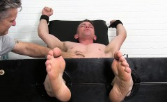 Fit guy Grayson gets his armpits and feet tickled by