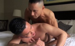 Asian gets cum facial
