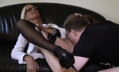 Blowjob from my mature blonde wife