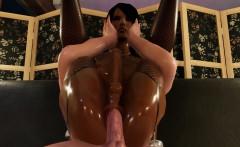 Black Futanari Shemale Babe In 3D Porn Game Loves Anal!