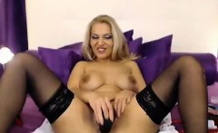 Anal sex with a blonde in stockings