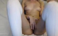 Amazing Blonde Toys Her Tight Pussy