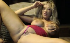 Magnificent Big Breasted Slut Drills Her Pussy And Squirts