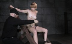 Restrained sub ass dildoed deeply by maledom