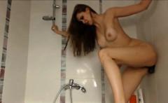 Amateur bbw wife takes a long shower on webcam