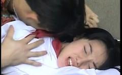 Japanese fantasy babe in uniform sucking