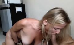 Busty Blonde Blowjob on Nice Big Cock