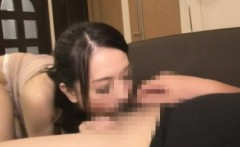A hot japanese cutie slurping small asian penis