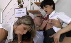 shy floozy gives oral pleasure and then takes it up the cunt