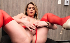 Shemale Leticia Rodrigues Masturbating