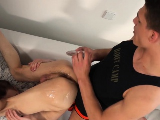 Hairy butt buddies Jason Smith and Wes Ford lick each other